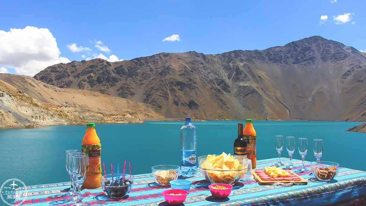 Lanche no Embalse El Yeso