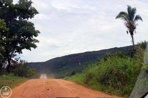 Estrada para Cachoeira Serra Azul