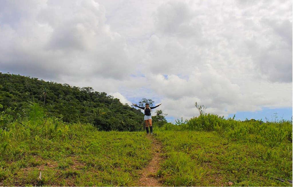 Topo trilha Fazenda Morro da Cachoeira Cuiabá