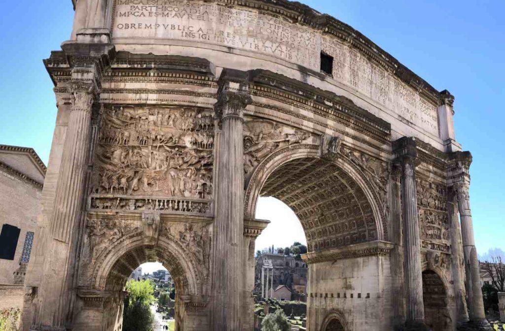 Arco di setimo Severo detalhes