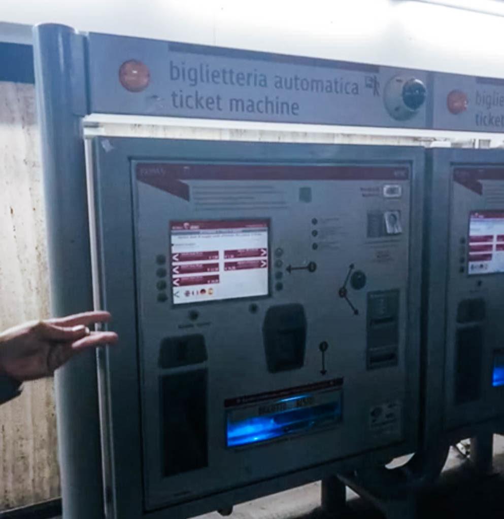 Bilheteria Automatica Metrô Roma