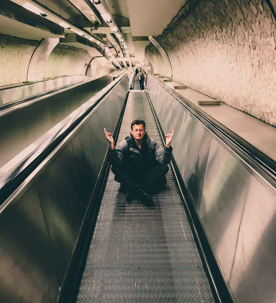Escada Metrô de Roma