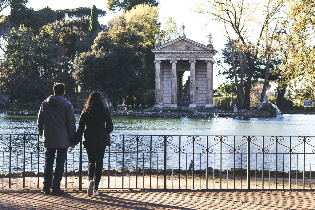 TEMPLO DE ESCULAPIO parque villa borghese ROMA