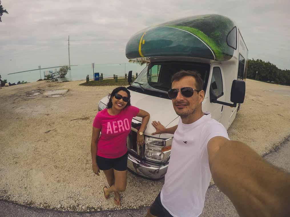 Estrada de Key West Florida de MotorHome RV