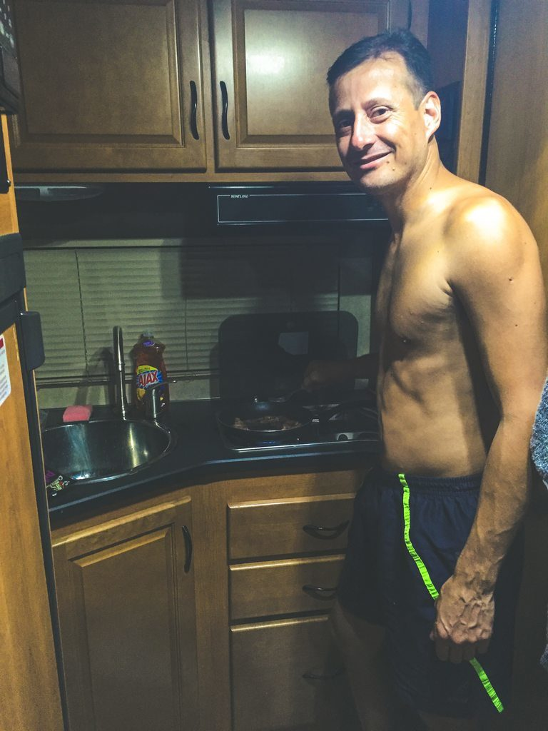 Cozinha do Motorhome RV