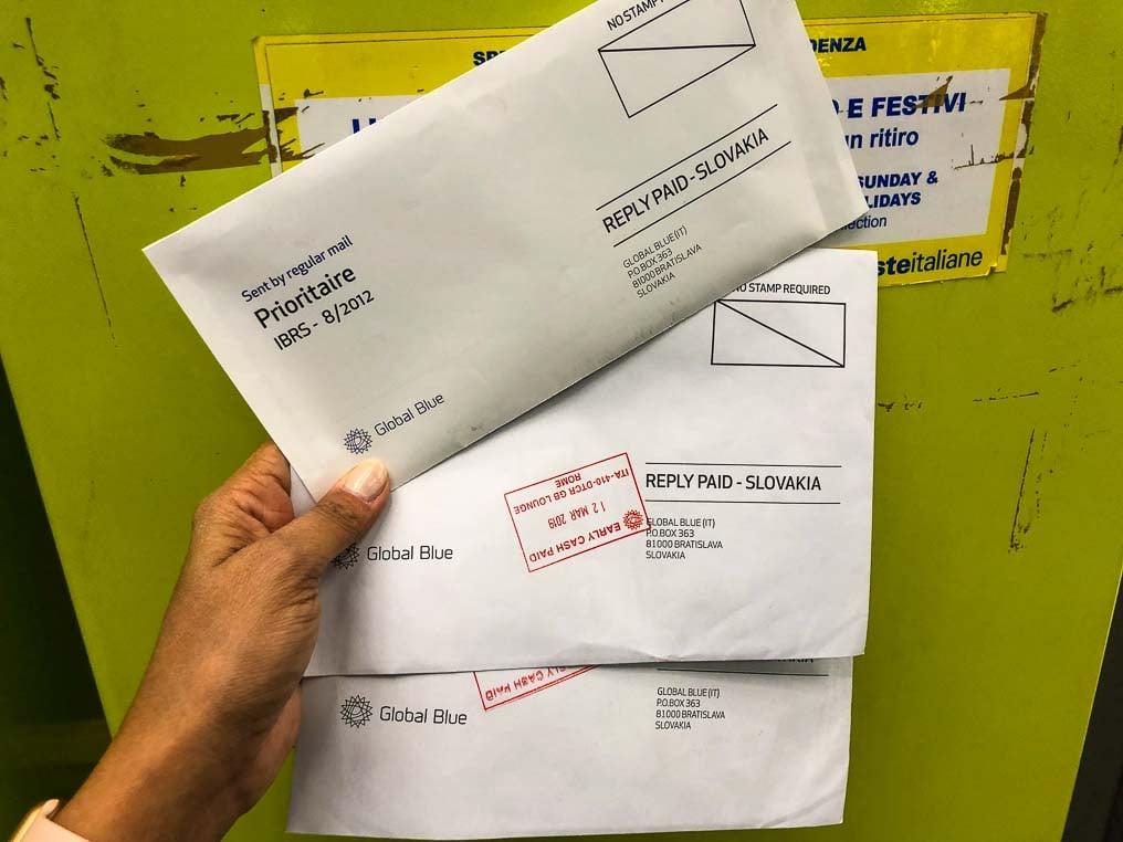 Envelope tax free