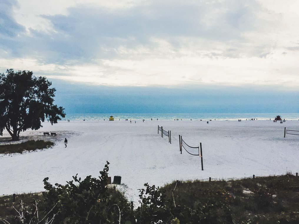 Praia de Cleawater Flórida de MotorHome Flórida