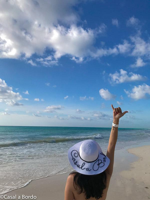 playacar, praia com poucas pessoas